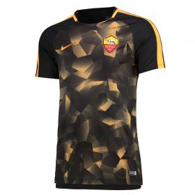 AS Roma Squad Pre Match Top - Black