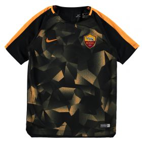 AS Roma Squad Pre Match Top - Black - Kids