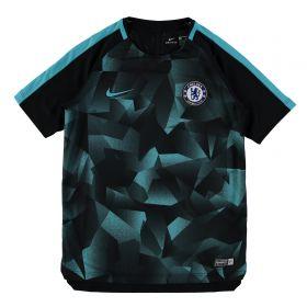 Chelsea Squad Pre-Match Training Top - Black - Kids
