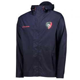 Leicester Tigers Training Waterproof Shower Jacket - Navy