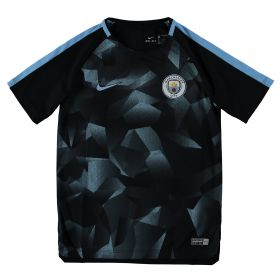 Manchester City Squad Pre-Match Training Top - Black - Kids