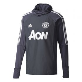 Manchester United Training Warm-up Top - Dark Grey