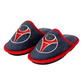 Paris Saint-Germain Logo Slippers - Navy - Junior