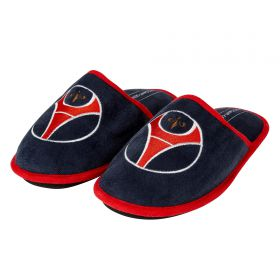 Paris Saint-Germain Logo Slippers - Navy - Mens