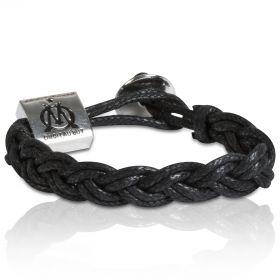 Olympique de Marseille Braided Leather Bracelet