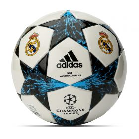 Real Madrid Finale 17 Mini Football - Size 1 - White