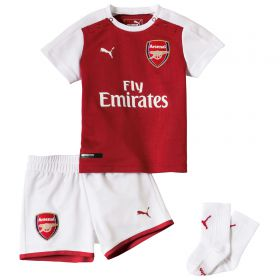 Arsenal Home Baby Kit 2017-18 with Chambers 21 printing
