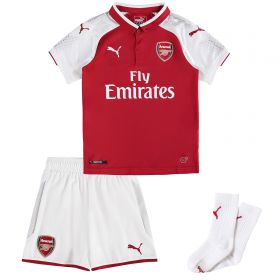 Arsenal Home Mini Kit 2017-18 with Iwobi 17 printing