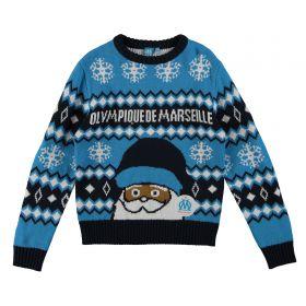 Olympique de Marseille Christmas Jumper - Blue - Kids