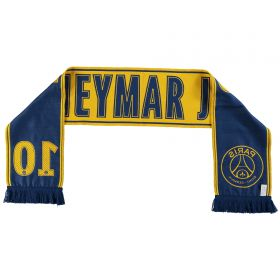 Paris Saint-Germain Neymar Jr Player Scarf - Yellow - Adult