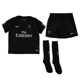 Paris Saint-Germain Third Stadium Kit 2017/18 - Little Kids with Silva 2 printing