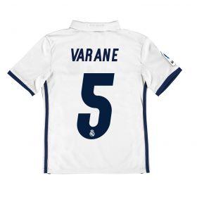Real Madrid Home Jersey 2016/17 - Kids - with Varane 5 printing