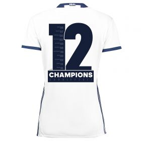 Real Madrid Home Shirt 2016-17 - Womens with Champions 12 printing