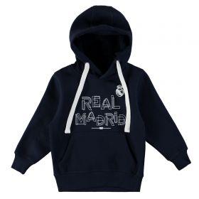 Real Madrid Text Hoodie - Navy - Junior
