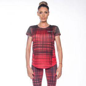 Дамска Тениска ZERO FIT Red Striped
