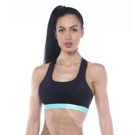 Дамско Бюстие ZERO FIT Sports Bra Black Turquoize