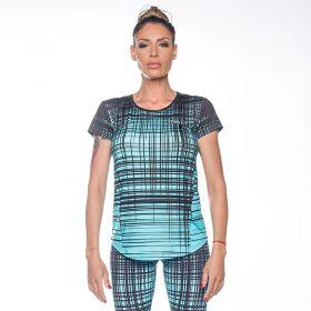 Дамска Тениска ZERO FIT Blue Stripes