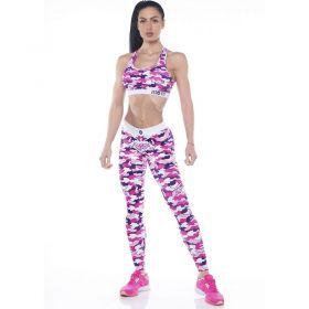 Дамски Комплект Клин/Бюстие ZERO FIT Training Set Pink Camo