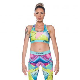 Дамско Бюстие ZERO FIT Sports Bra Crazy Colours