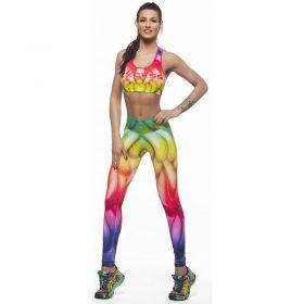 Дамски Комплект Клин/Бюстие EX FIT Training Kit Rainbow