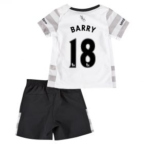 Everton Away Baby Kit 2015/16 with Barry 18 printing