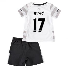 Everton Away Baby Kit 2015/16 with Besic 17 printing