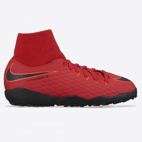 Nike Hypervenom Phelon IIII Dynamic Fit Astroturf Trainers - Red - Kids