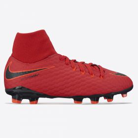 Nike Hypervenom Phelon IIII Dynamic Fit Firm Ground Football Boots - Red - Kids