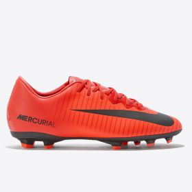 Nike Mercurial Vapor XI Firm Ground Football Boots - Red - Kids