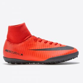 Nike Mercurial Victory VI Dynamic Fit Astroturf Trainers - Red - Kids