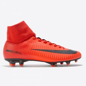 Nike Mercurial Victory VI Dynamic Fit Firm Ground Football Boots - Red