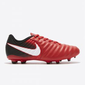 Nike Tiempo Ligera IV Firm Ground Football Boots - Red - Kids