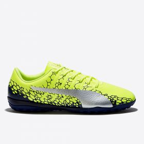 Puma evoPOWER Vigor 4 Graphic Astroturf Trainers - Safety Yellow/Silver/Blue Depths