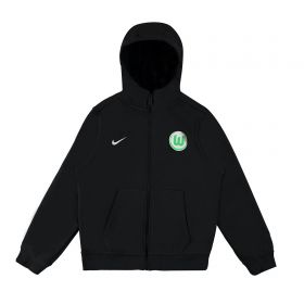 VfL Wolfsburg Core Full Zip Hoody - Black - Kids