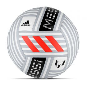 adidas Messi Glider Football - White/Clear Grey/Black/Solar Red - Size 5