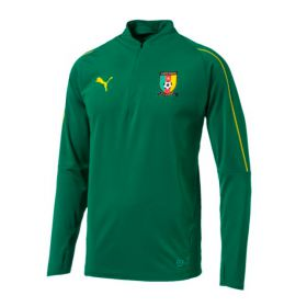 Cameroon Training 1/4 Zip Top - Green