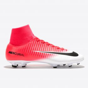 Nike Mercurial Victory VI DF Firm Ground Football Boots - Racer Pink/Black/White
