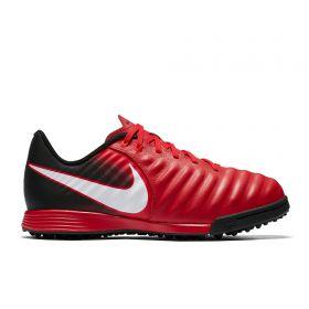 Nike Tiempo Ligera IV Astroturf Trainers - Red - Kids