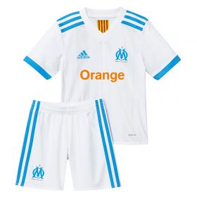 Olympique de Marseille Home Mini Kit 2017-18 with L. Gustavo 19 printing