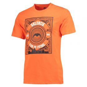 Valencia CF Gothic Graphic T-Shirt - Orange - Mens