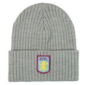 Aston Villa Knit Beanie - True Gray Heather