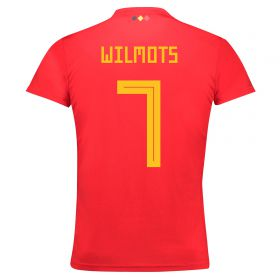 Belgium Home Legends Shirt 2018 with Wilmots 7 printing
