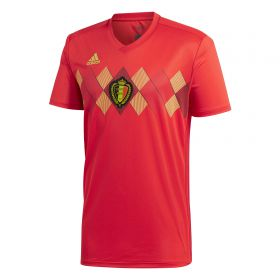 Belgium Home Shirt 2018 with De Bruyne 7 printing