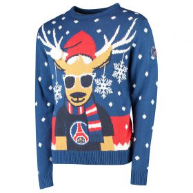 Paris Saint-Germain Fairisle Christmas Jumper - Red - Adult