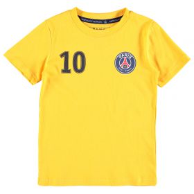 Paris Saint-Germain Neymar Jr Player T-Shirt - Yellow - Junior