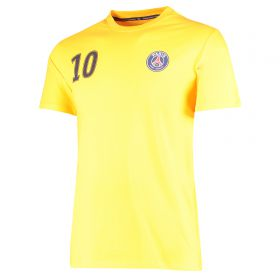 Paris Saint-Germain Neymar Jr Player T-Shirt - Yellow - Mens