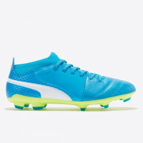 Puma One 17.3 Firm Ground Football Boots - Atomic Blue/White/Safety Yellow