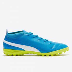 Puma One 17.4 Astroturf Trainers - Atomic Blue/White/Safety Yellow - Kids