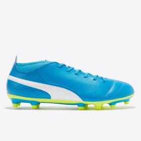 Puma One 17.4 Firm Ground Football Boots - Atomic Blue/White/Safety Yellow