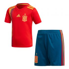 Spain Home Mini Kit 2018 with A.Iniesta 6 printing